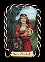 Queen of Pentacles from the Steele Wizard Tarot