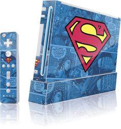 Superman - Superman Logo - Wii (Includes 1 Controller) - Skinit Skin @ niftywarehouse.com #NiftyWarehouse #Superman #DC #Comics #ComicBooks