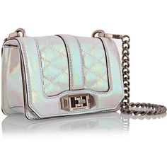 102882f5e19c3 Rebecca Minkoff Iridescent patent-leather shoulder bag ( 113) ❤ liked on  Polyvore featuring