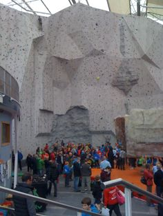 Great place to indoor climbing (Eica Ratho and the glass ceiling, photographer E.K.)