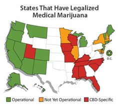 Medical Marijuana Map - Laws for each state