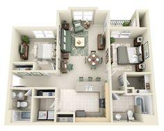 Добре розроблена 3d ідея дизайну будинку 143