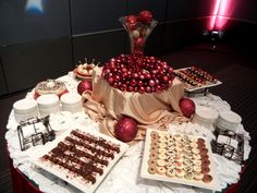 Holiday Party Dessert Display // Embassy Suites Hampton Roads & Hampton Roads Convention Center