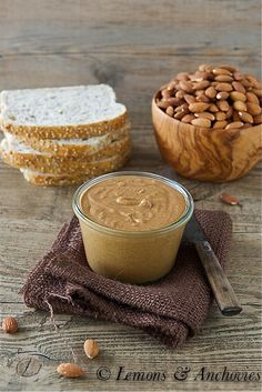 Homemade Almond Butter   2½ cups roasted whole almonds 13-15 minutes in food processor