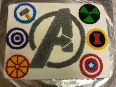Avengers cake Avengers Birthday, 11th Birthday, Birthday Parties, Birthday Cakes, Birthday Ideas, Comic Book Parties, Avenger Cake, Little Man Birthday, Superhero Cake