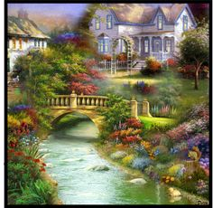 """The Rest Of My Life"" by delta Dream Pictures, Scenery Pictures, Print Pictures, Cool Pictures, Fantasy Landscape, Landscape Art, Landscape Paintings, Garden Painting, House Painting"