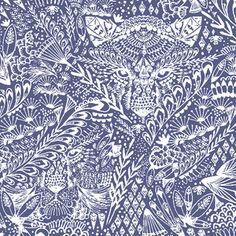 Hawthorne Threads - Bengal - Hide and Seek in Indigo