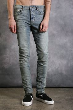 001 Slim Fit - Metallic Silver