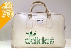 30c10e822d6 Vintage 1970s Adidas Peter Black Northern Soul Holdall Weekend Sports  Tennis Bag Adidas Bags, Adidas