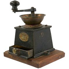 1870s Coffee Grinder by J J Whitehouse Tipton of England, Very Well... ($225) ❤ liked on Polyvore featuring home and kitchen & dining