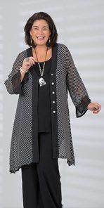 Plus size Kasbah black voile spot v neck jacket