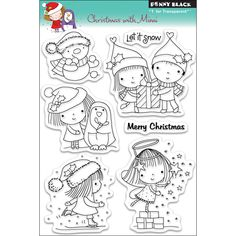 Penny Black Clear Stamps 5 Inch X 6.5 Inch Sheet-Christmas With Mimi
