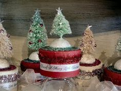 how to make vintage look bottle brush trees-why didn't see this earlier in the season?!?