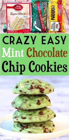 Hypoallergenic Pet Dog Food Items Diet Program Grinch Cookies This Mint Chocolate Chip Cake Mix Cookie Recipe Literally Tastes Like Mint Ice Cream Baking This Delicious Dessert Is So Easy. Chocolate Chip Cookies Rezept, Chocolate Chip Ice Cream, Chocolate Chip Cake, Chocolate Cookie Recipes, Mint Chocolate Chips, Dessert Chocolate, Chocolate Chip Granola Bars, Holiday Desserts, Cookies