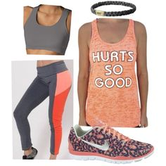 """""""WOD Wear #33"""" by sarcy321 on Polyvore  #CrossFitClothing, #crossfit, #workoutclothes, #athleticattire"""