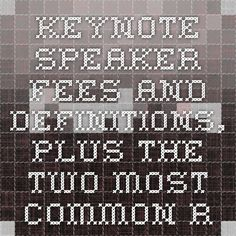 Keynote Speaker Fees