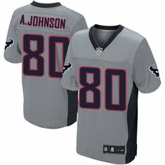 e541a7f2276f Shop for Official Mens Nike Houston Texans Andre Johnson Elite Grey Shadow  Jersey. Get Same Day Shipping at NFL Houston Texans Team Store. Size S