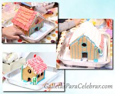 Casas de galleta decoradas por niños