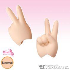 Home :: Dollfie Dream® :: DD Option Parts :: DD Hands (DD-H) :: MDD-H-02 - Scissors/Peace Hands Normal