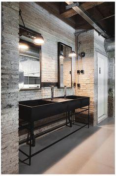 Loft Industrial, Industrial Interior Design, Industrial Bedroom, Industrial Living, Industrial Interiors, Vintage Industrial, Kitchen Industrial, Kitchen Modern, Scandinavian Kitchen
