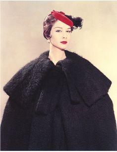 Model Nancy Berg in a Spanish coat. Photo by Erwin Blumenfeld, New York, 1954.