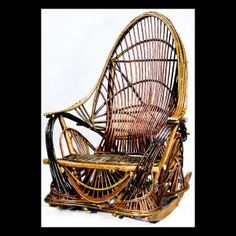 Rocking Chair  Description: Traditional bent willow furniture.  Bent willow on maple frame.Dimensions: H:48.00 x W:36.00 x D:36.00 Inches