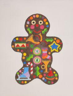 "Gingerbread Man by Raymond Crawford, $101.25, 18 mesh, 10""x7.5"""
