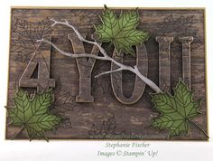 The Crafty Thinker: Stephanie Fischer - Independent Stampin' Up Demonstrator: Wood Textures Masculine Eclipse Card