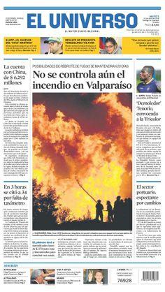 Portada de #DiarioELUNIVERSO del martes 15 de abril del 2014. Las #noticias de #Ecuador y el mundo en: www.eluniverso.com