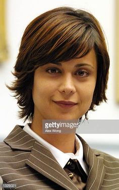 Actress Catherine Bell attends a hearing on religious discrimination in western Europe, before the House of Representatives International Operations and Human Rights Subcommittee, July 2001 on. Catherine Bell, Human Rights, Bangs, Europe, Actresses, House, Image, Fringes, Female Actresses