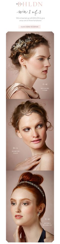 CLOSED Win A BHLDN Hairpiece via @BHLDN Weddings Weddings Weddings