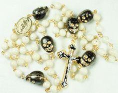 Muertos Rosary - great specialty rosary for Dia de los muertos or All Souls Day!