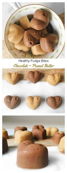 Healthy Fudge Bites –  Two Ways Chocolate and Peanut Butter