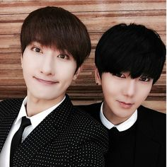 Zhoumi and Yesung at Sungmin wedding