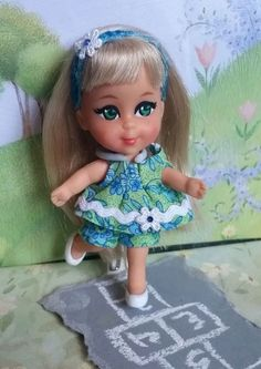 "Liddle Kiddles OOAK Redressed Lola Liddle ""At the Playground"""