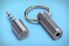 Thermodo-plug into phone, gives accurate reading of surrounding temperature. Then it's a keychain again.