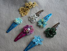 flower clips. look like they are easy and fun.