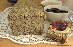 Ψωμί χωρίς αλεύρι Greek Recipes, Vegan Recipes, Snack Recipes, Dessert Recipes, Cooking Recipes, Snacks, Desserts, Sweet Bread, Tapas
