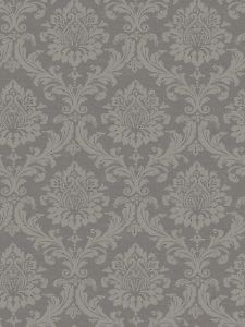 Damask Elegant Wallpaper in Grey from the Villa Vecchia Collection
