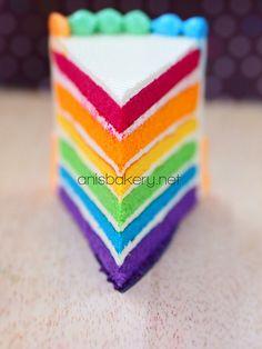 Rainbow Cake #sweets #desserts