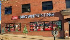 Its beginning to look a lot like Christmas! Brown Printing can print and install window graphics for businesses, lobbies, offices. Click the link to learn more and reach out to us for more info.