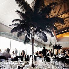 Rock'n Roll Wedding Decorations   Rock n Roll/Art Deco Wedding Ideas / Ostrich feather for centerpieces