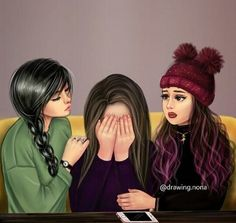 Me and my bff arias and abegail Best Friend Sketches, Friends Sketch, Best Friend Drawings, Girly Drawings, Best Friends Cartoon, Friend Cartoon, Beautiful Girl Drawing, Cute Girl Drawing, Cartoon Girl Images