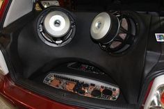 A Company in Germany did this custom work in a VW Golf. It features 3-way Morel Virtus speakers, Morel Ultimo subwoofers, and custom A-pillars with pods for the mids. See more pictures in this board and here: http://on.fb.me/1s4WZwK