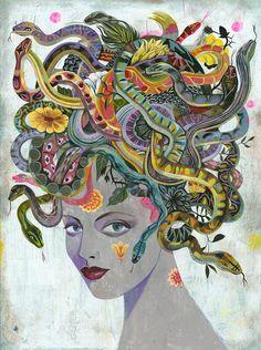 mystic medusa, by olaf hajek.