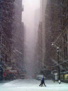NYC. Cold, snowy Manhattan
