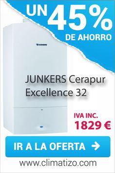Oferta de caldera de condensación JUNKERS Cerapur Excellence 32. Precio mínimo garantizado.