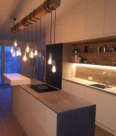 ewe Küche Vida (c) Room Inside Oak Cabinets, Küchen Design, Living Room Lighting, New Room, Sweet Home, Home And Garden, House Styles, Interior, Kitchen