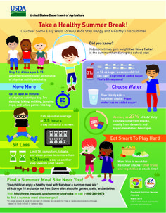 Take a Healthy Summer Break Infographic from USDA's Team Nutrition #summermeals #nutritioneducation