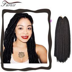 18inch 24Roots Faux Locs Crochet Braid hair Extensions